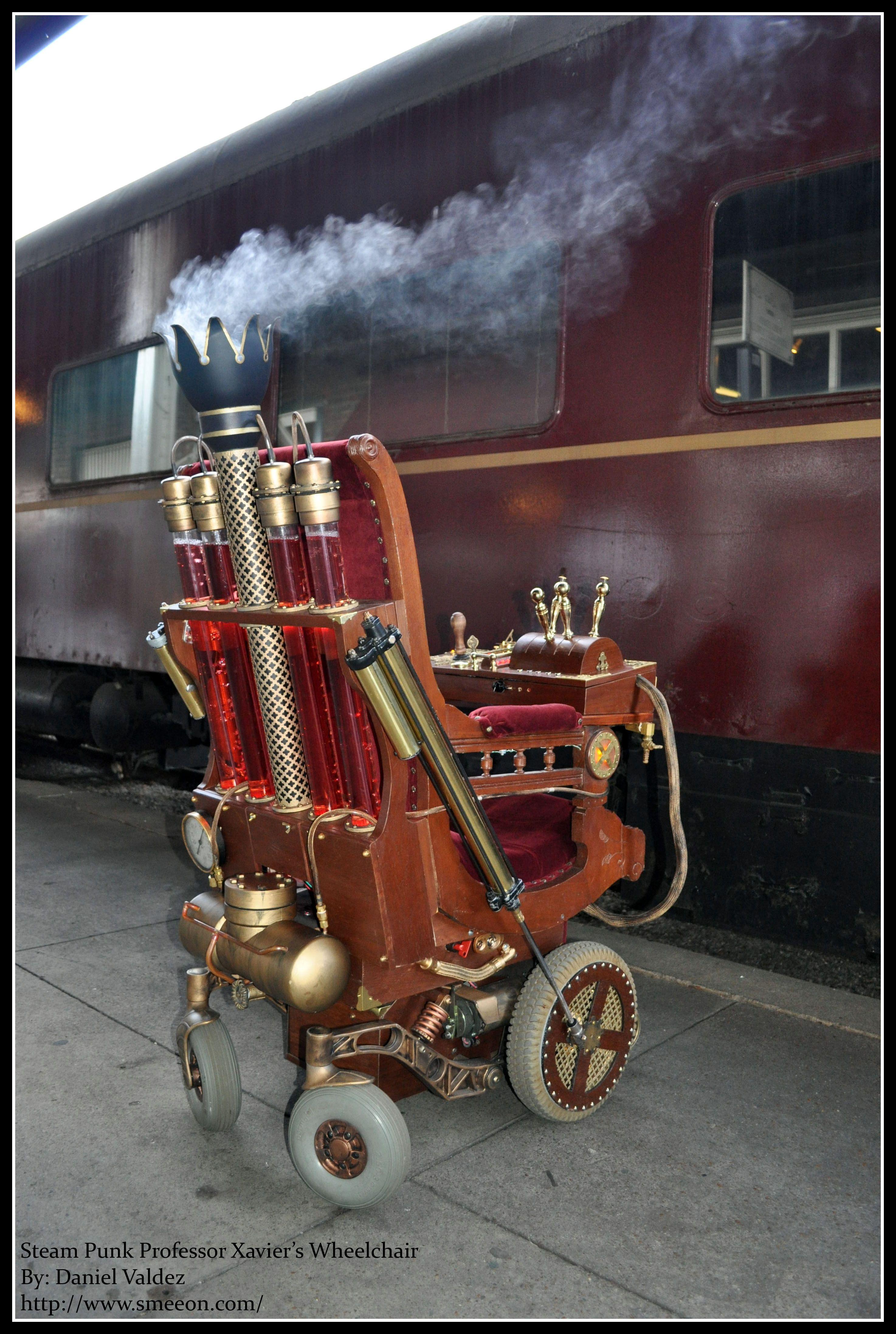 Antique Wheelchair - Steampunk Steampunk Wheelchair Project Details