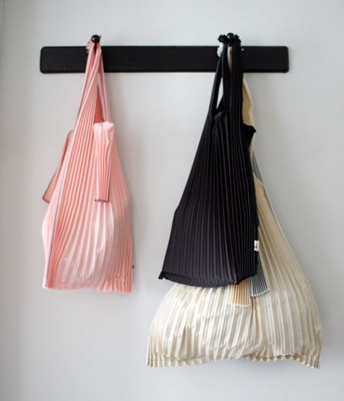 Kna Plus Pleated Eco Bag Small Grey Uguisu Online Store Sac