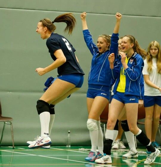 Team Latvia at the qualifier for the 2014 CEV U19 Volleyball European Championship - Women