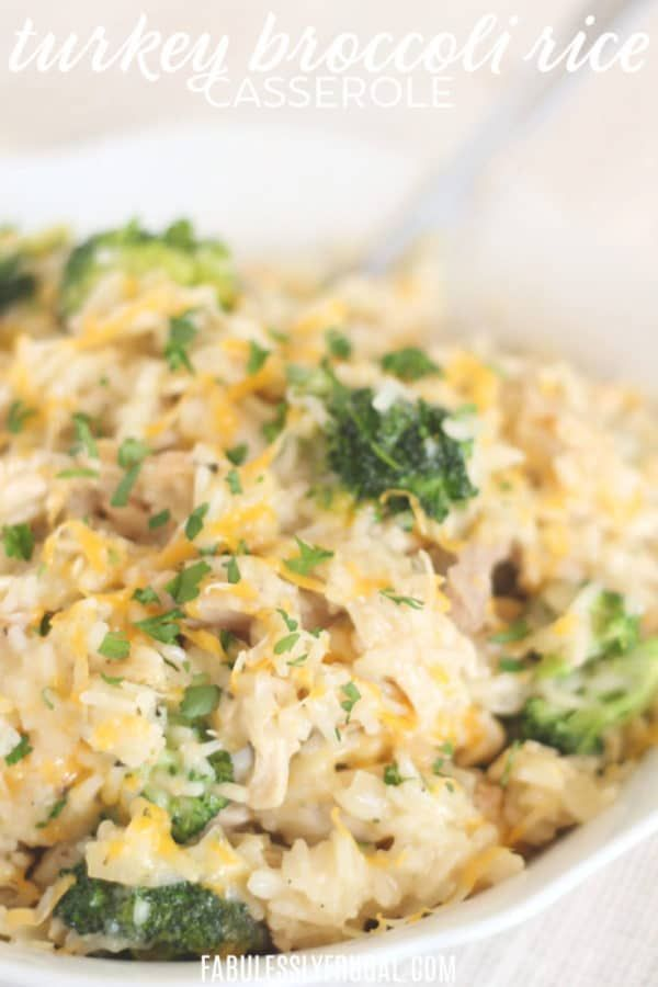 Photo of Turkey Broccoli Rice Casserole – Fabulessly Frugal
