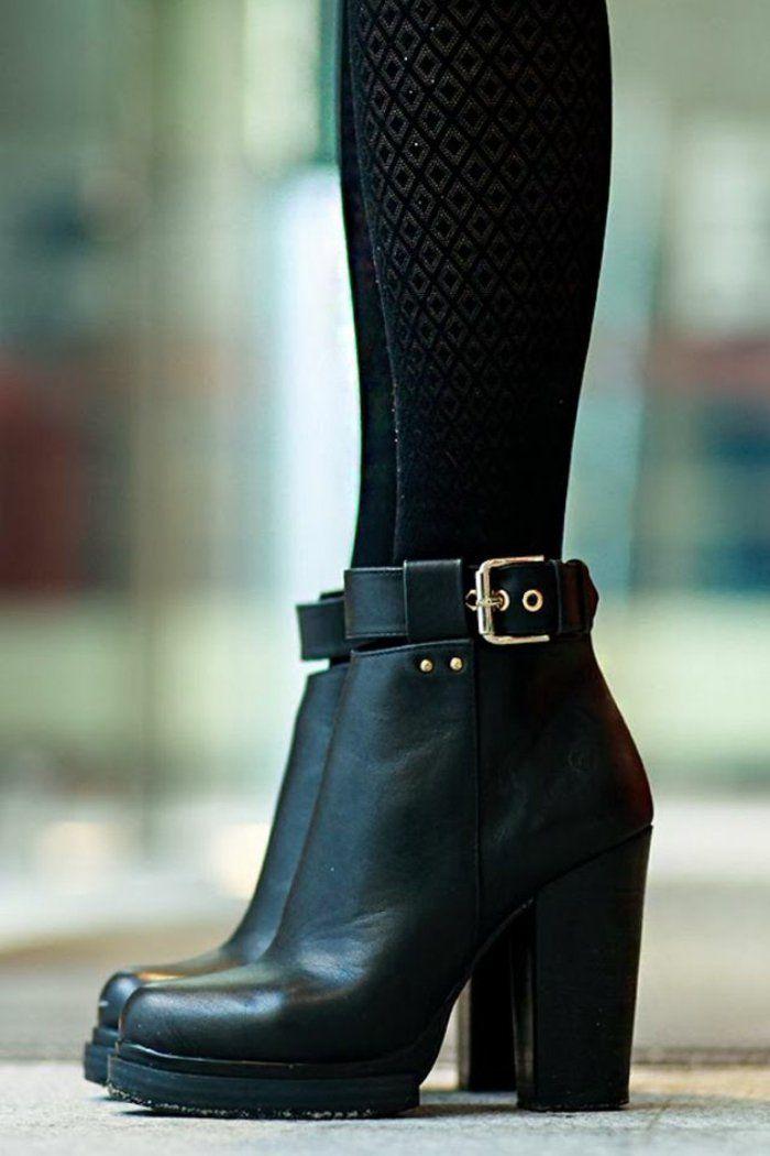 54935b1c90 Quelles sont les tendances chez les bottes noires? 45 photos! | MODE ...