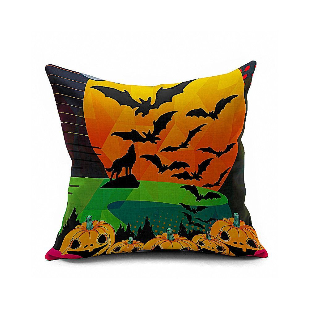 Cotton Flax Pillow Cushion Cover Halloween WS168