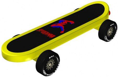 Skateboard - pinewood derby 3D Design Plan - INSTANT DOWNLOAD