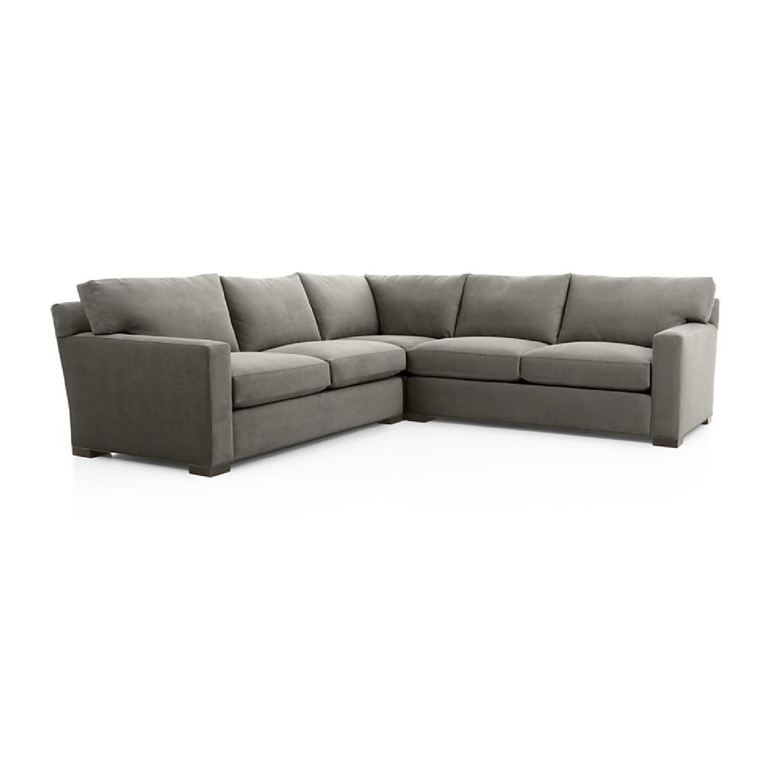 crate and barrel sleeper sofa striped sets axis ii 3 piece sectional sofas