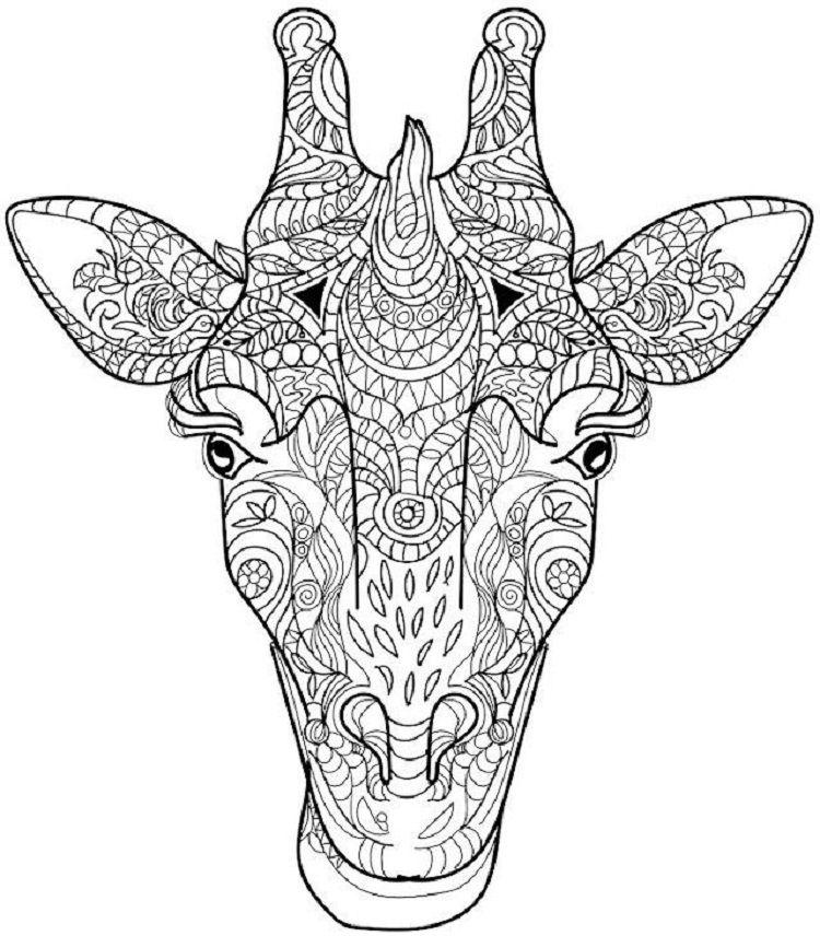 Abstract Giraffe Coloring Pages Mandala Malvorlagen Kostenlose Ausmalbilder Malvorlagen Tiere