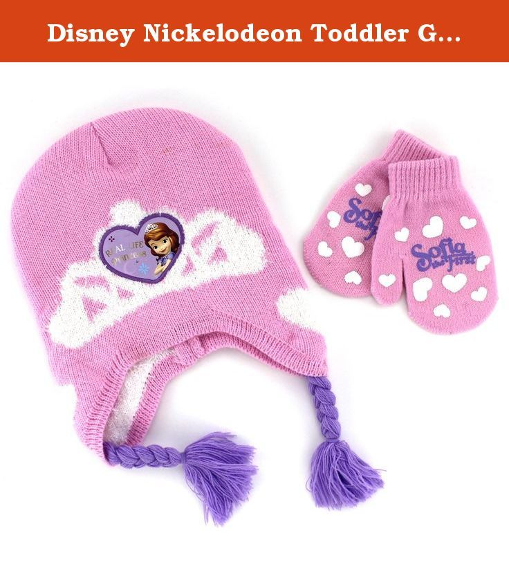 57f2722a48305 Disney Nickelodeon Toddler Girls Hat and Mittens Set (Pink Princess Sofia).  Bundle up with your favorite character! Choose your favorite knit hat and  ...