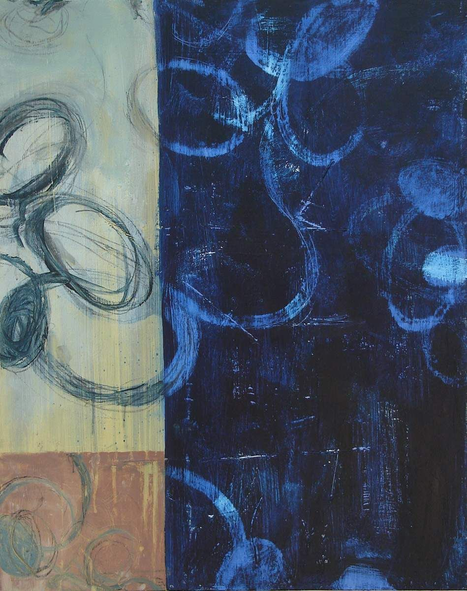 """Sapphire        2006      Acrylic and lumber crayon on canvas      30"""" x 24"""""""