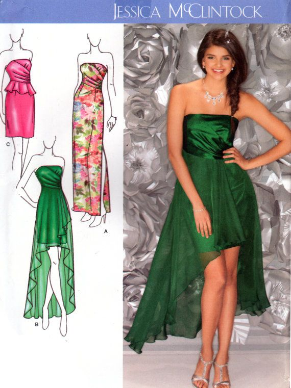 2013 Simplicity 1656 Jessica McClintock Evening Dress with Skirt and ...