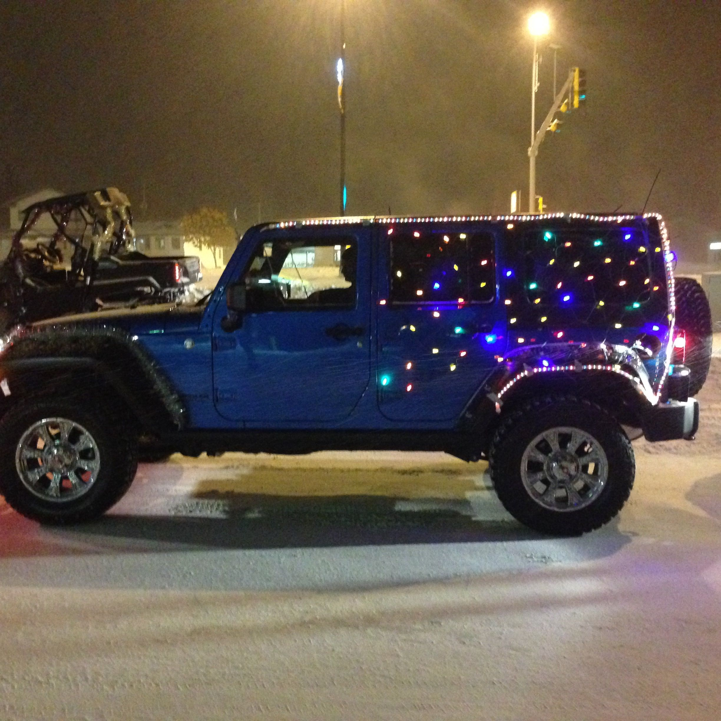 Cold Lake Chrysler's Jeep Decorated For Parade
