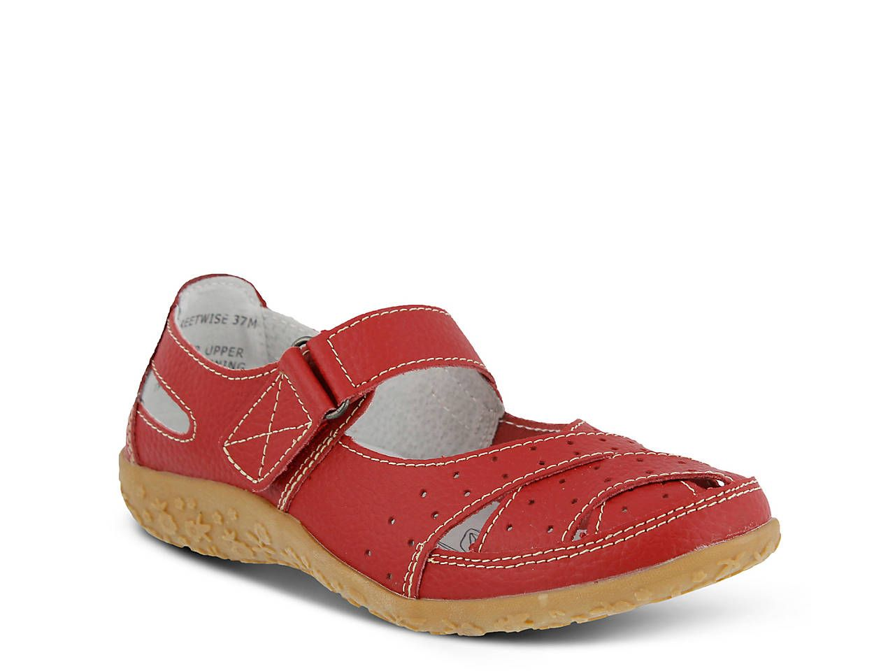 Leather shoes woman, Spring step shoes