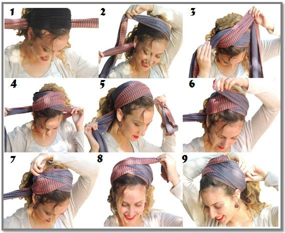 How To Tie My Scarf Diagonally Amazing Headband Bandana Tichel