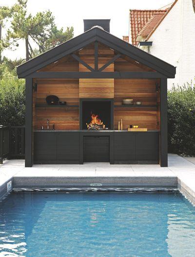 Cuisine d\u0027extérieur inox, mobile, design, barbecue, plancha - plan de travail pour barbecue exterieur