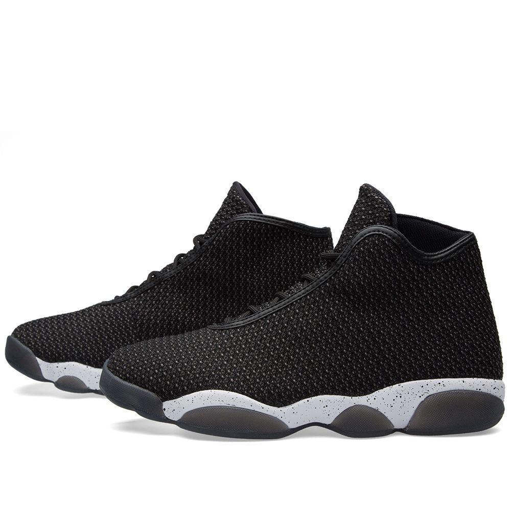 33bdf0c91ce Mens Nike Air Jordan Horizon Black/White Basketball Shoes 823581 012 Size  9.5