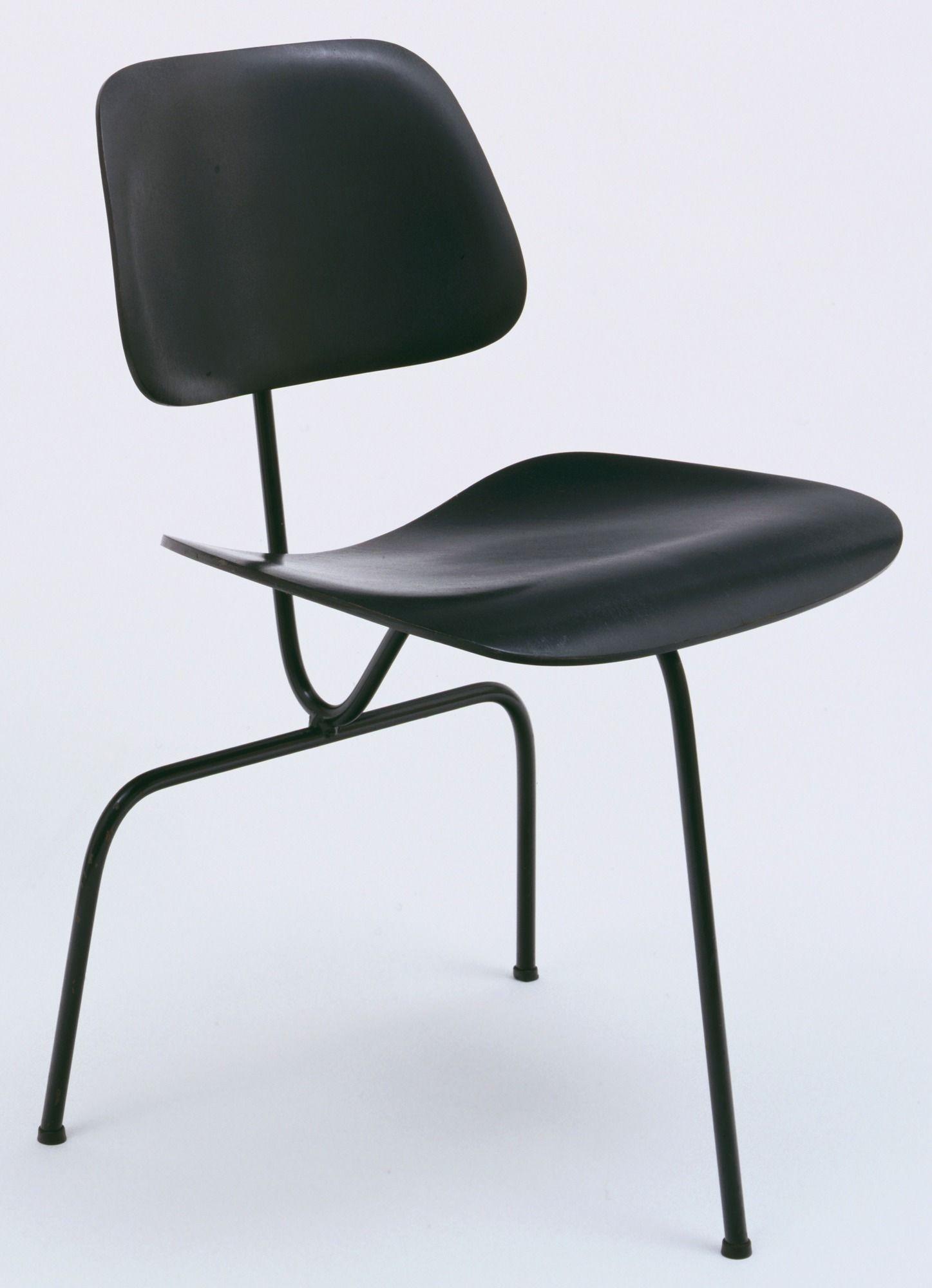 Chaise de bureau vintage en cuir marron pieds fixes et non