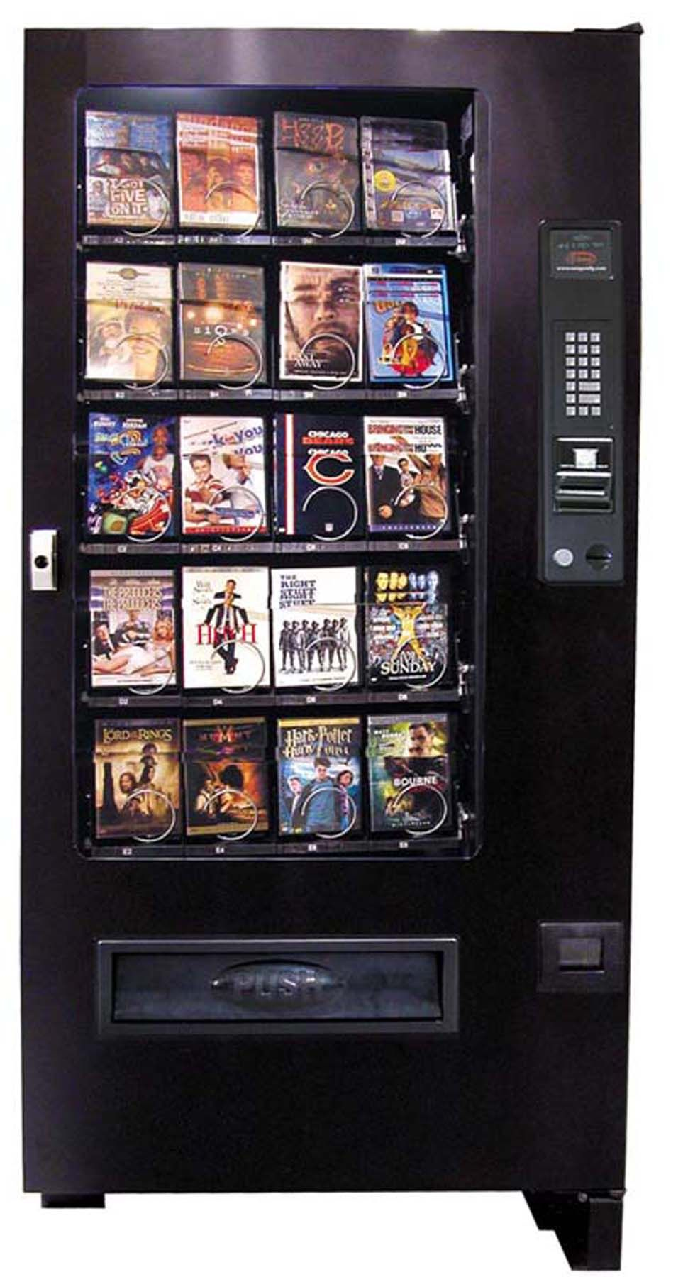 Premium Collection Dvd Vending Machine Give Customers Their