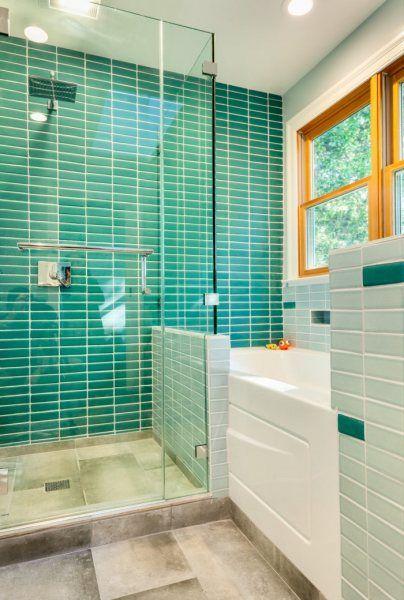 Bathroom Wall Tiles How High Should They Go Fireclay Tile Bathroom Wall Tile Bathroom Installation Small Bathroom Makeover