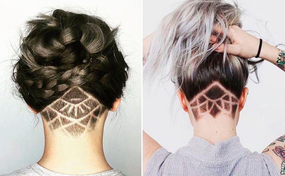Undercut Mit Rasiertem Muster Lori Hair Rasierte Haare Haare
