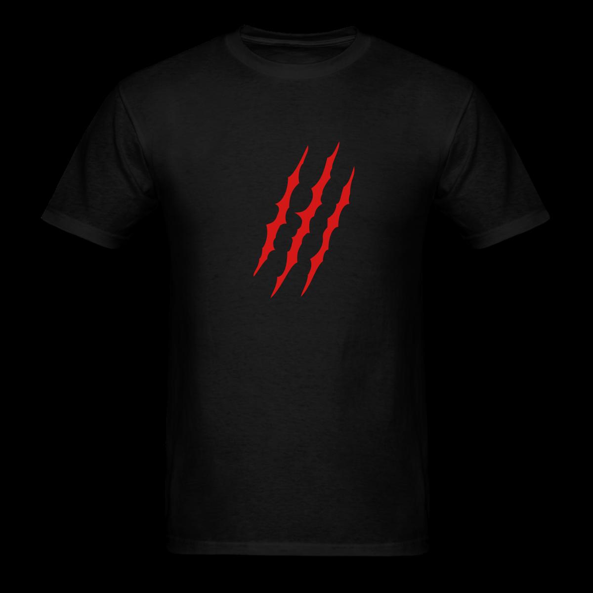 Black Claw Mark T Shirts Mens Tshirts Shirts T Shirt