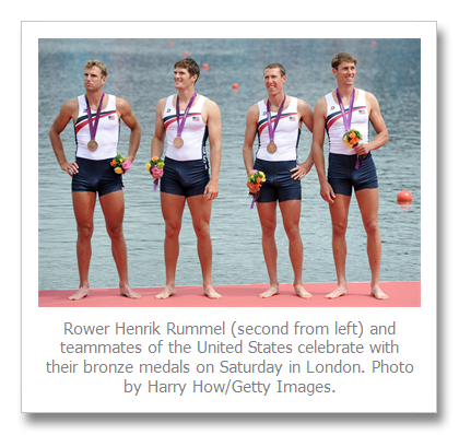 U.S. rower Henrik Rummel raises controversy, denies he had an erection at medal ceremony