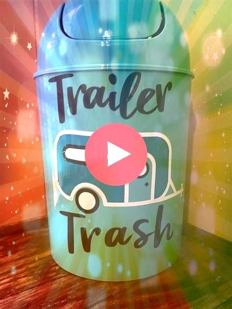 Trash Can RV Camper Decor Vinyl Camper Decal Small Waste Basket 5 Liter Trash Bin Trailer Trash Can RV Camper Decor Vinyl Camper Decal Small Waste Basket 5 Liter Trash Bi...