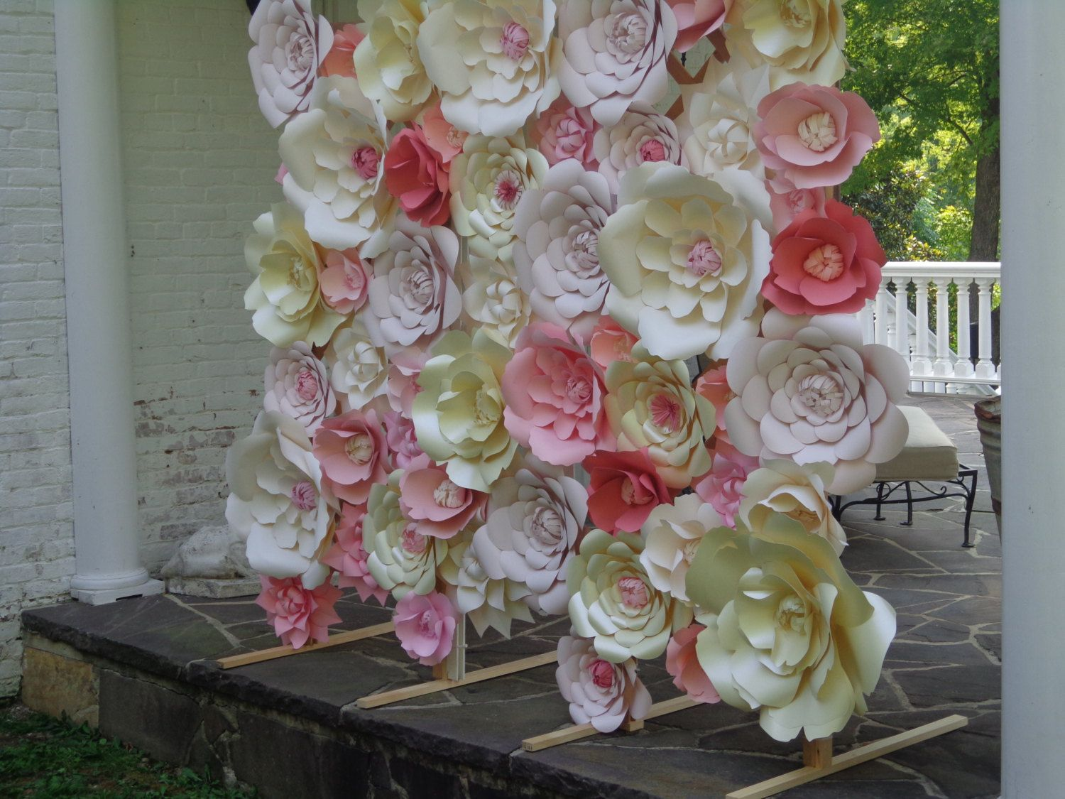 White Paper Flower Wall Extra Large Paper Flowers Decoration