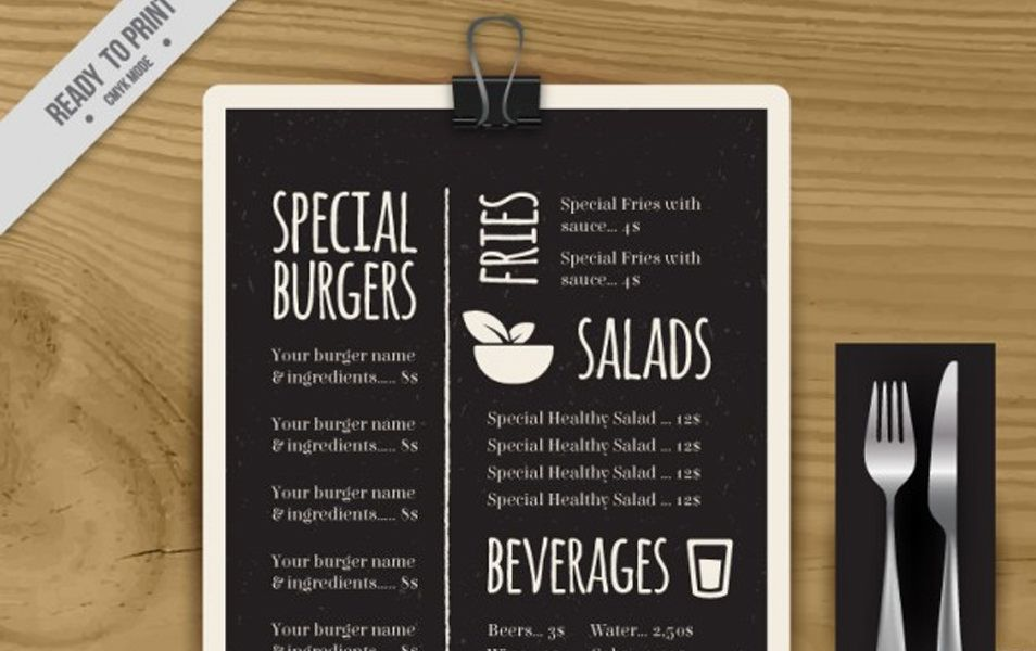 Special menu template in blackboard | Graphic Design LOGOS, BRANDING ...
