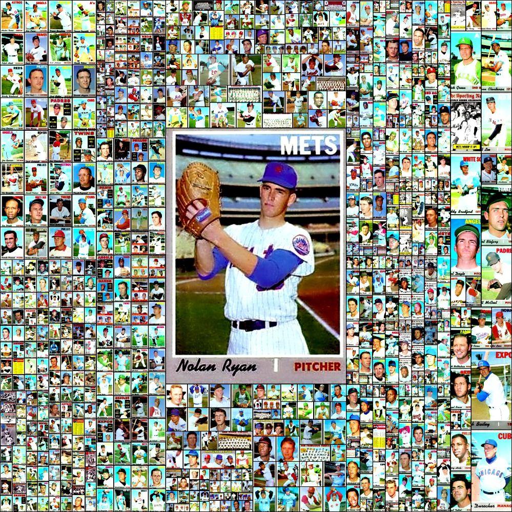 1970 topps baseball cards complete set collage baseball
