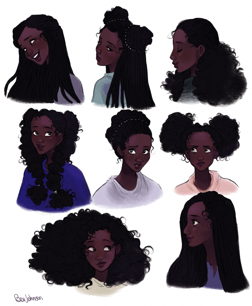 Drawing Hairstyles For Your Characters Drawing On Demand Black Girl Art Character Drawing Character Design