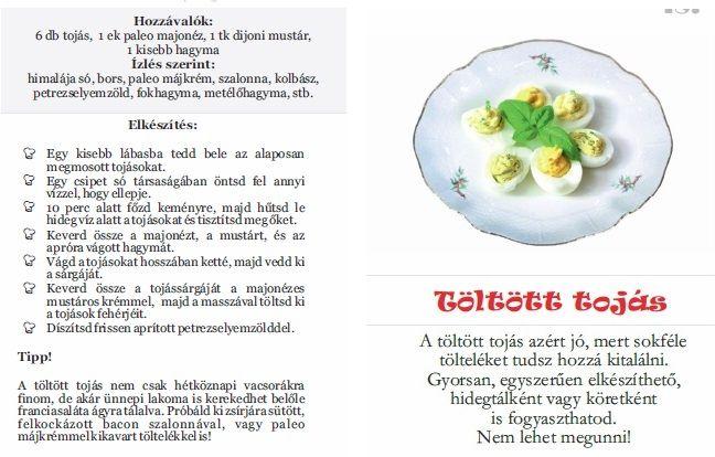 toltott tojás