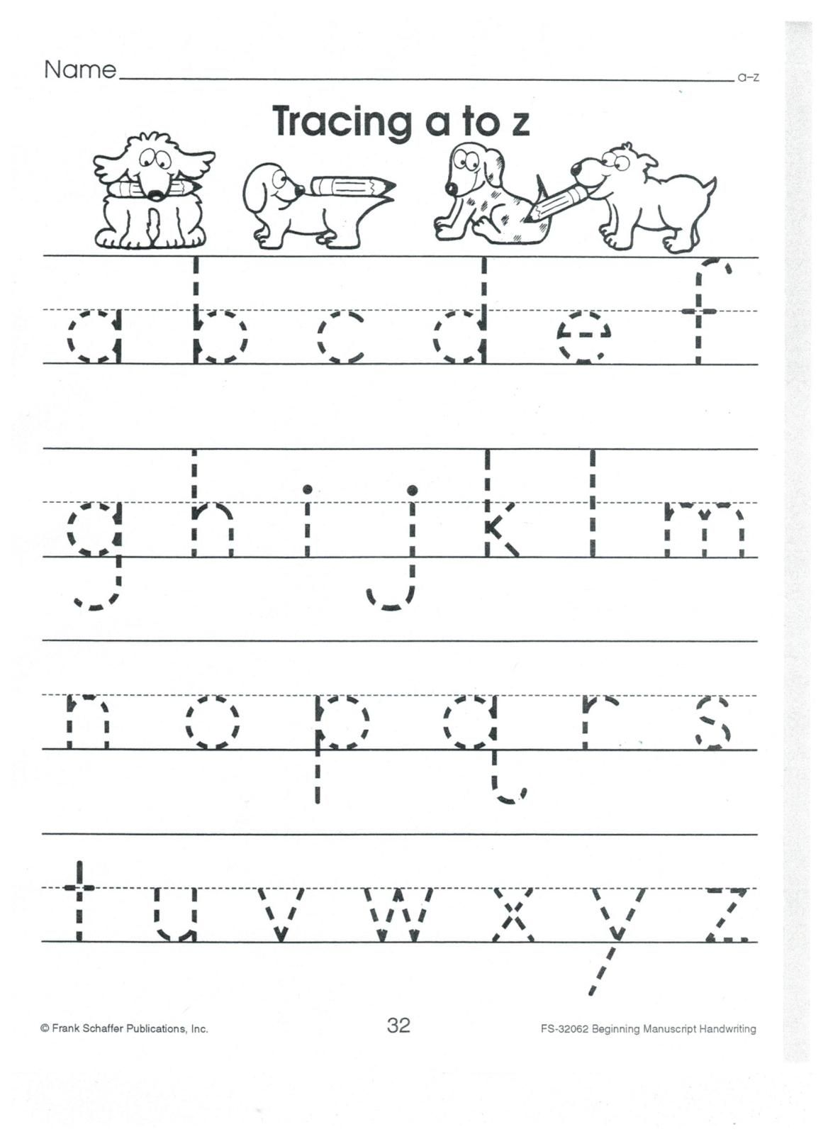 English Print Abc A To Z Lower Case 001 With Images Alphabet