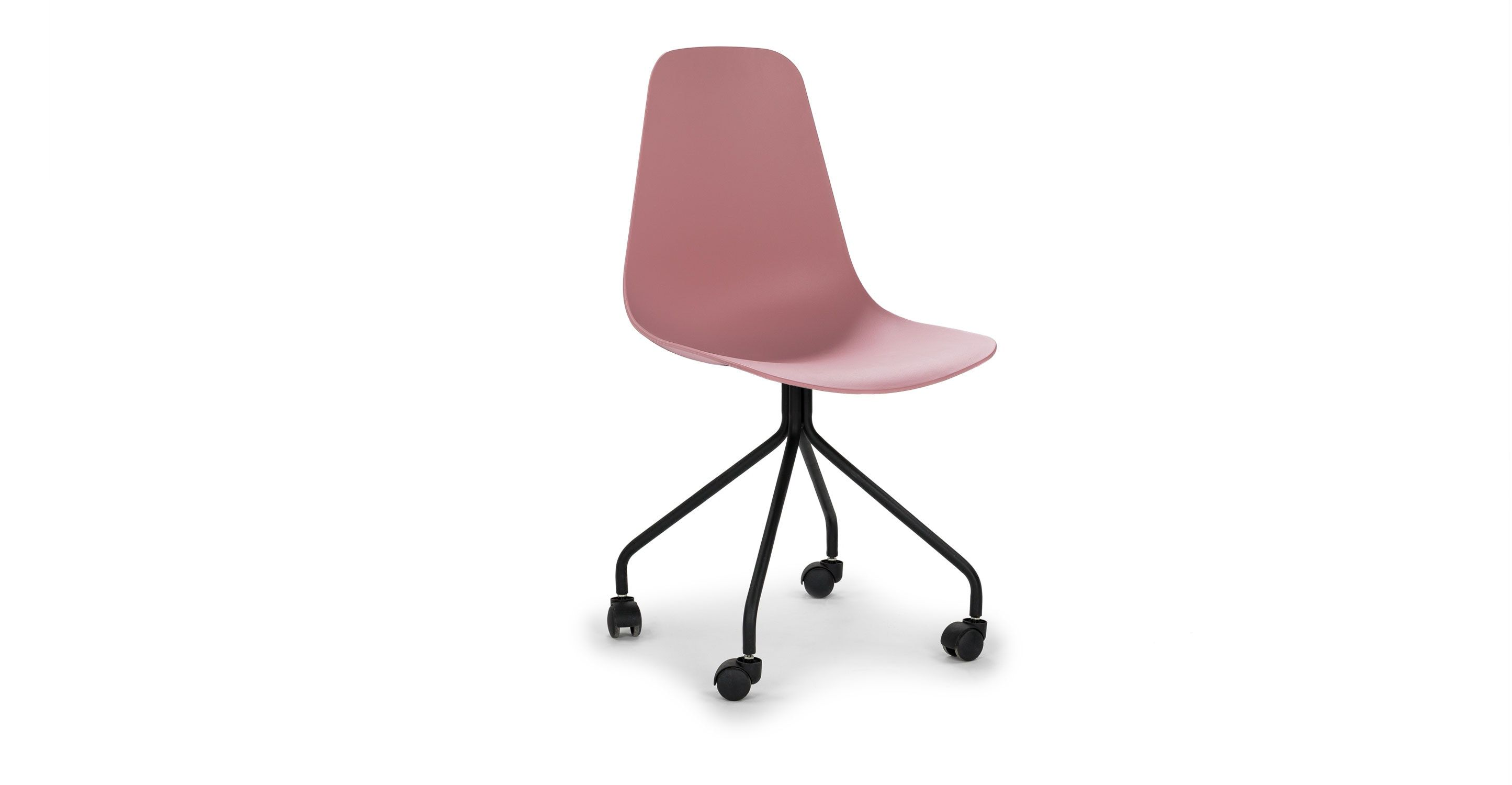The 50 S Texted They Re Back This Modern Spin On A Mid Century Classic Is The Perfect Mid Century Modern Office Chair Pink Office Chair Orange Office Chairs