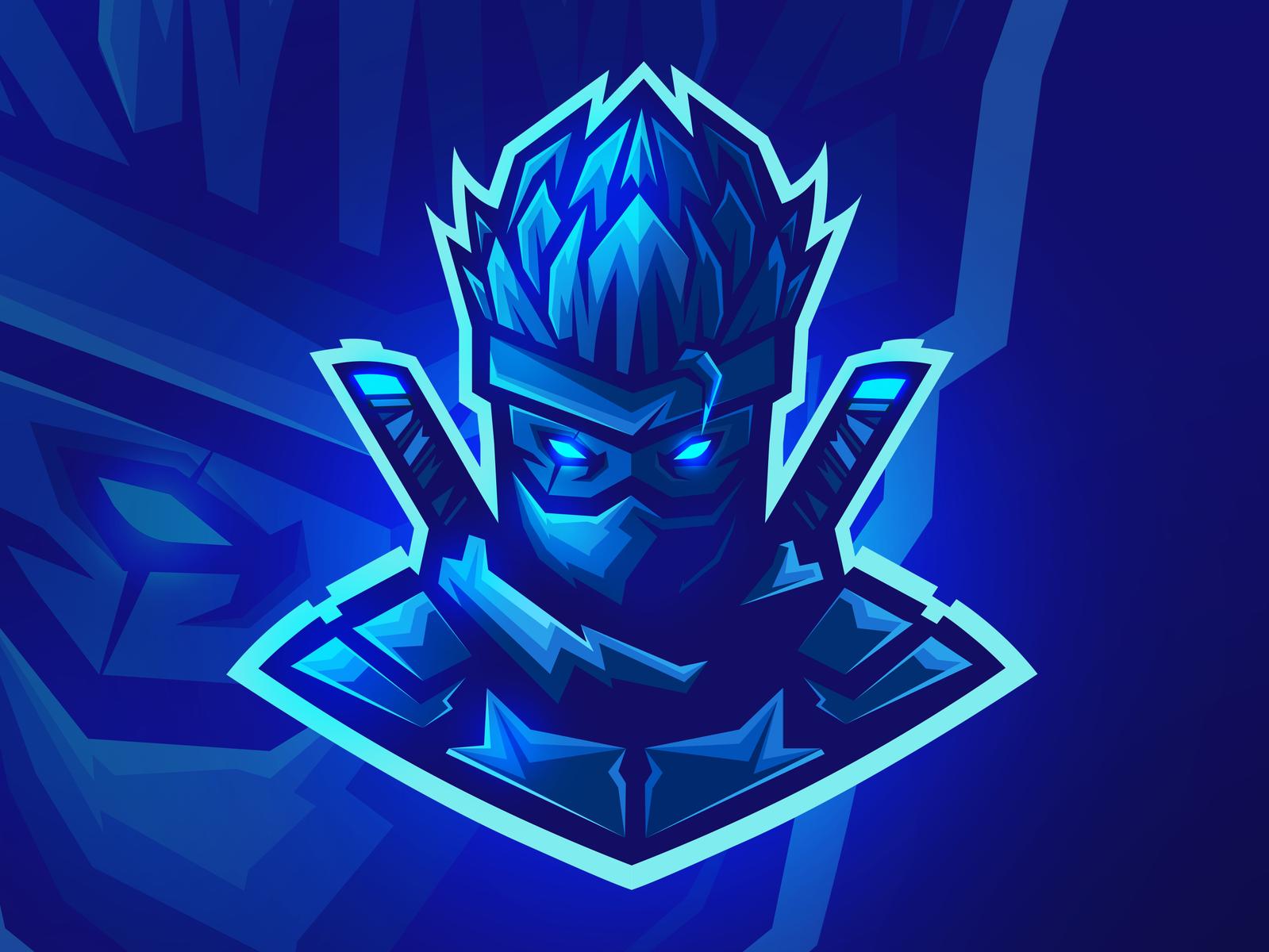 Saiyan Ninja Esports Logotipo De Arte Desenho De Asas De Anjo Imagem De Fundo Para Iphone
