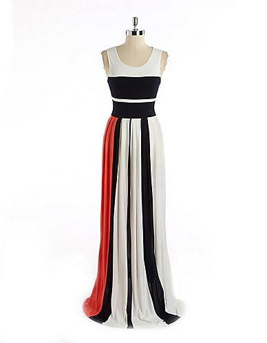 e52d4c82efec Colorblocked Maxi Dress | Lord and Taylor | Dainty Dresses ...