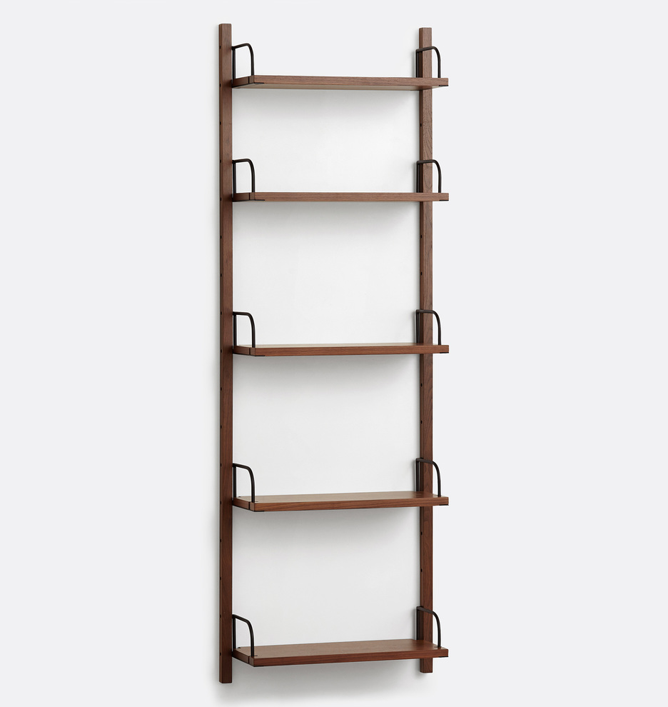 Hart Modular Walnut Shelving Unit Rejuvenation Shelving Unit Bookcase Shelving