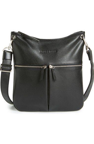 0517f44c5b0d Longchamp  Veau  Leather Crossbody Bag - Black