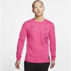 Photo of Nike Sportswear Men's Long Sleeve T-Shirt – Pink NikeNike
