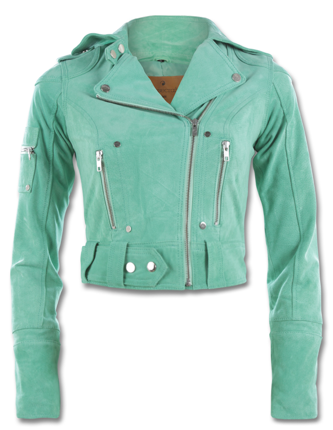 a61980b533b Tiffany blue leather jacket?! Someone's been reading my mind | All ...