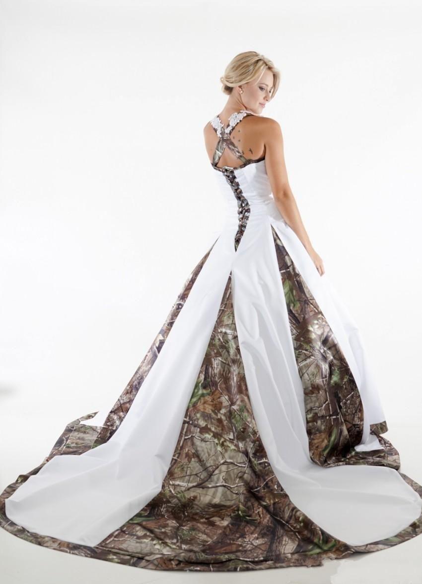 c8d81132f43 Vintage A-Line Applique Lace Camo Wedding Dresses 2017 Custom Backless Plus  Size Formal Bridal
