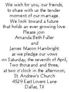 romantic wedding invitation wording from bride and groom  google, invitation samples