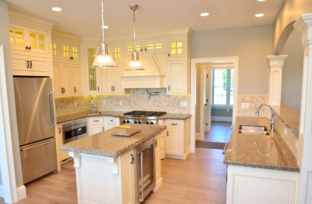 Lake House Kitchen Designed By Wolff Bros Supply Inc Using Medallion Cabinetry Cambriaquartz Count House Design Kitchen Kitchen Design Lake House Kitchen