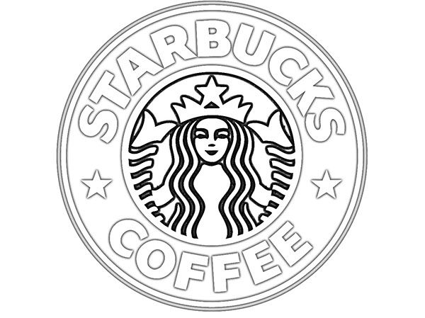 starbucks logo colouring pages basic things pinterest