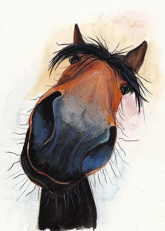 Рисунок прикольный конь
