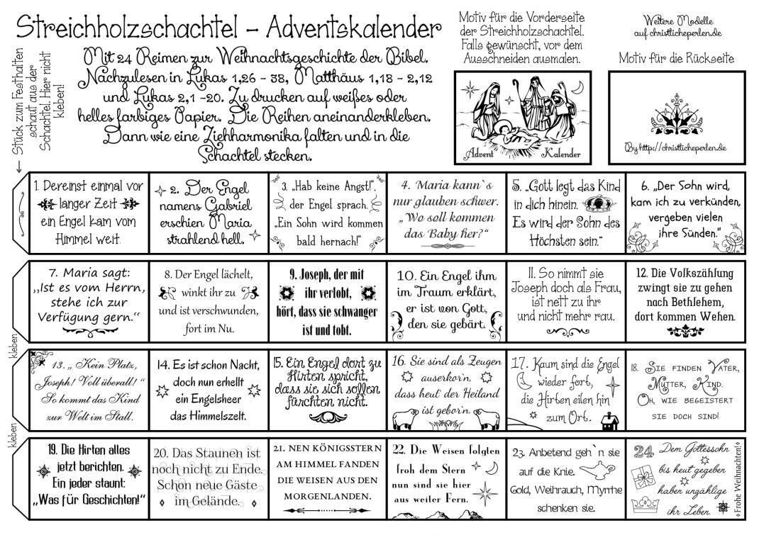 Mini Adventskalender Basteln Mit Vorlage Mama Im Spagat 2