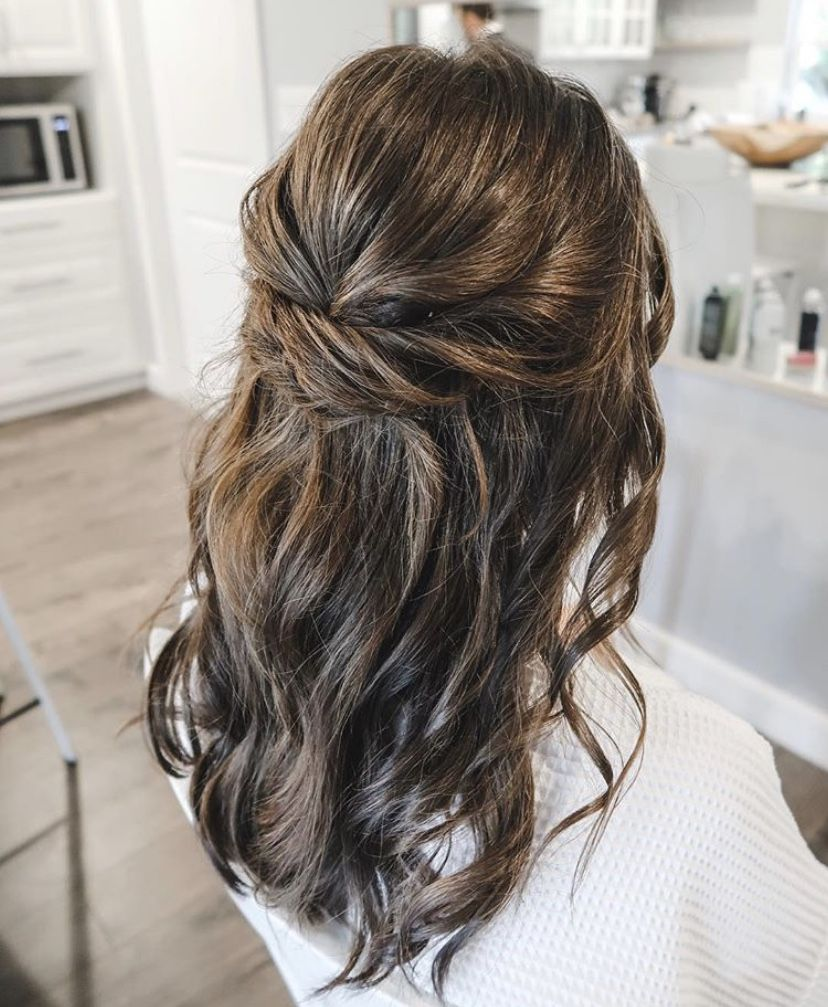Maid Of Honor Bridesmaid Hairstyling Bridesmaid Hairdo Brides Maid Hair Down Hairstyles