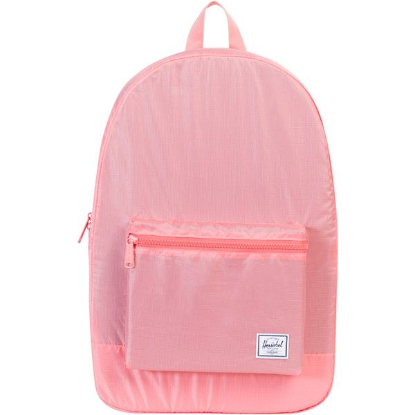 Herschel Supply Co Packable 24l Daypack Pink ( 47) ❤ liked on Polyvore  featuring bags, backpacks, accessories, pink, women, pocket backpack, zip  backpack, ... 73e71ff239
