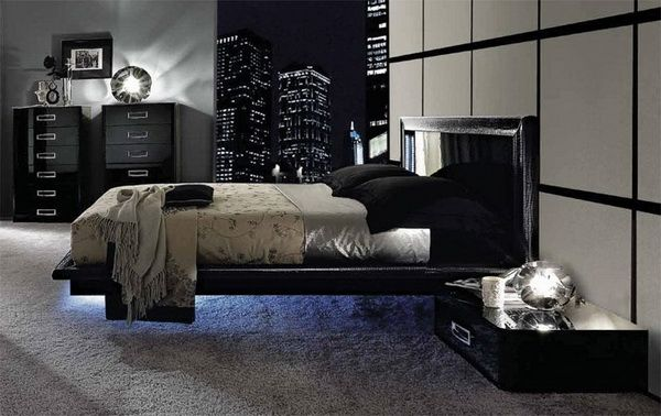 Nice Modern Bedroom Design With Black And White Urban Bedroom Set Furniture