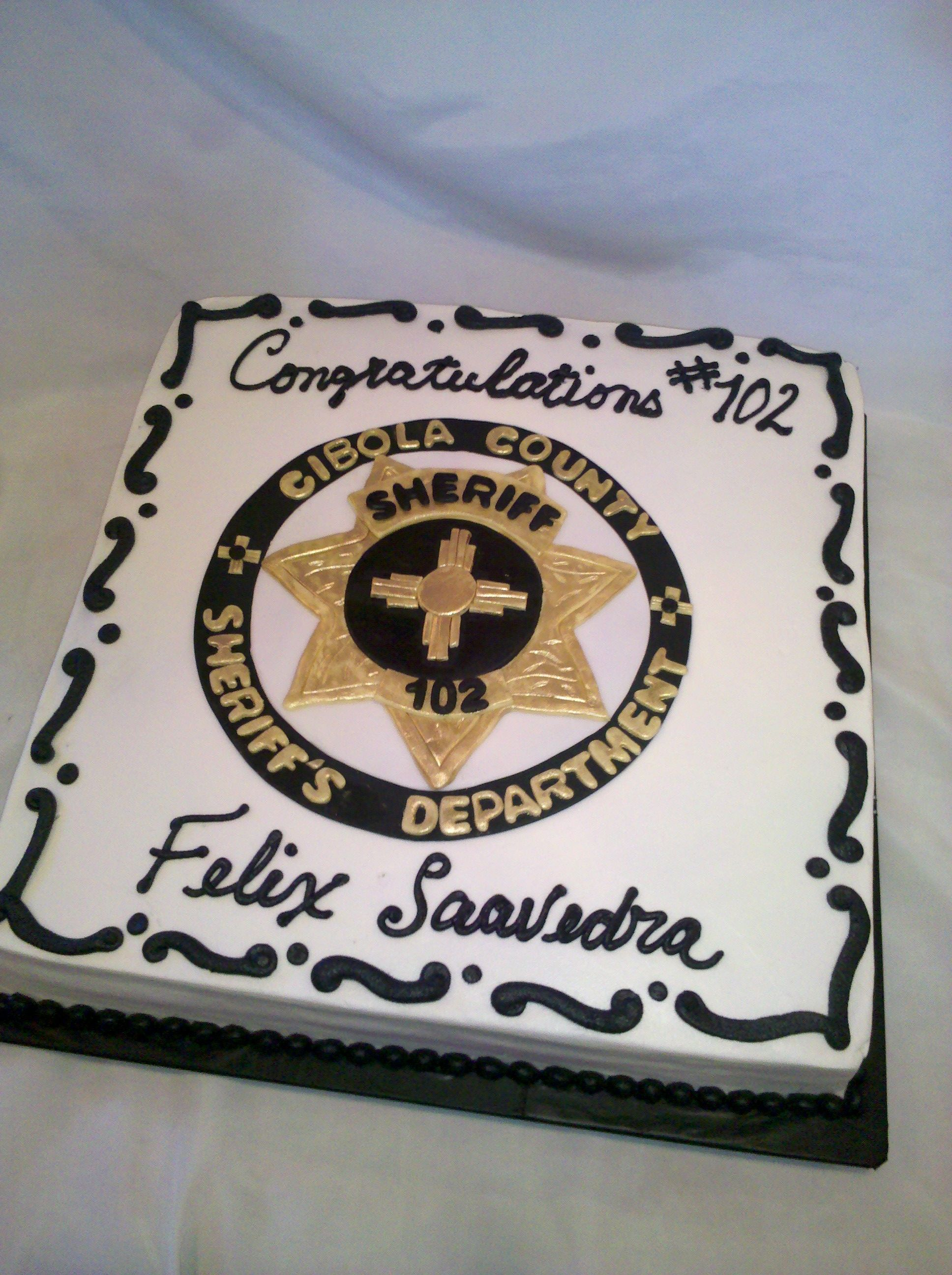 Sheriff Retirement Cake
