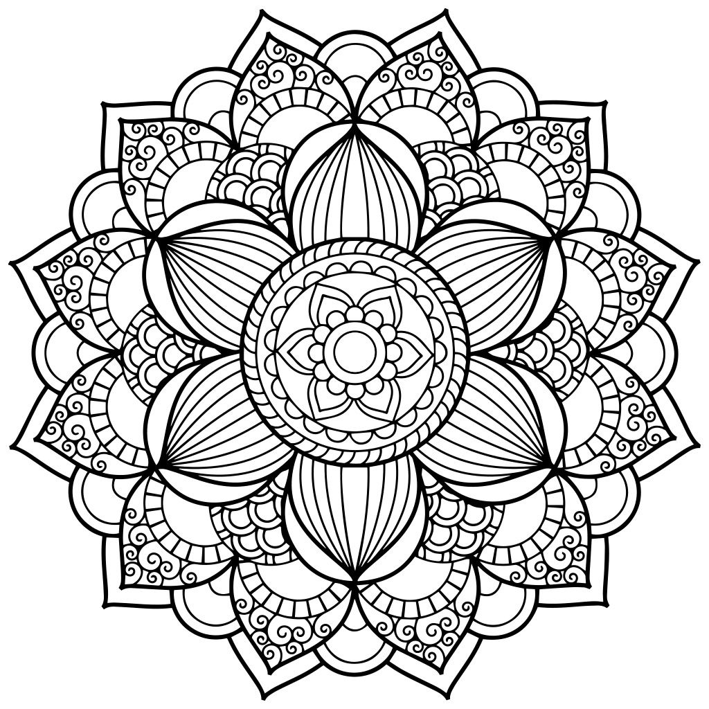 Mandala Coloring Pages for Adults for Android, iOS and