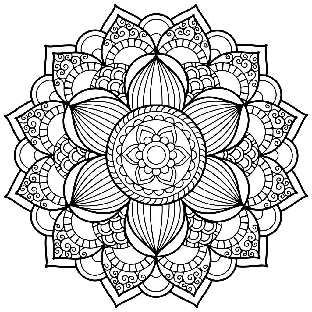 ԑ̮̑♢̮̑ɜ~Mandala para Colorear~ԑ̮̑♢̮̑ɜ Más | mandalas | Pinterest ...