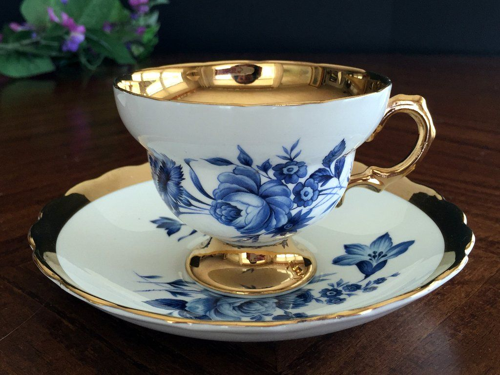 Rosina Teacup and Saucer, Gold Banded Tea Cup Made in England This is a  delightful